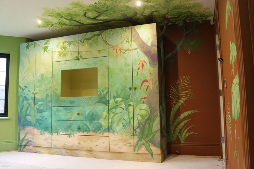 jungle mural funiture painting cheshire